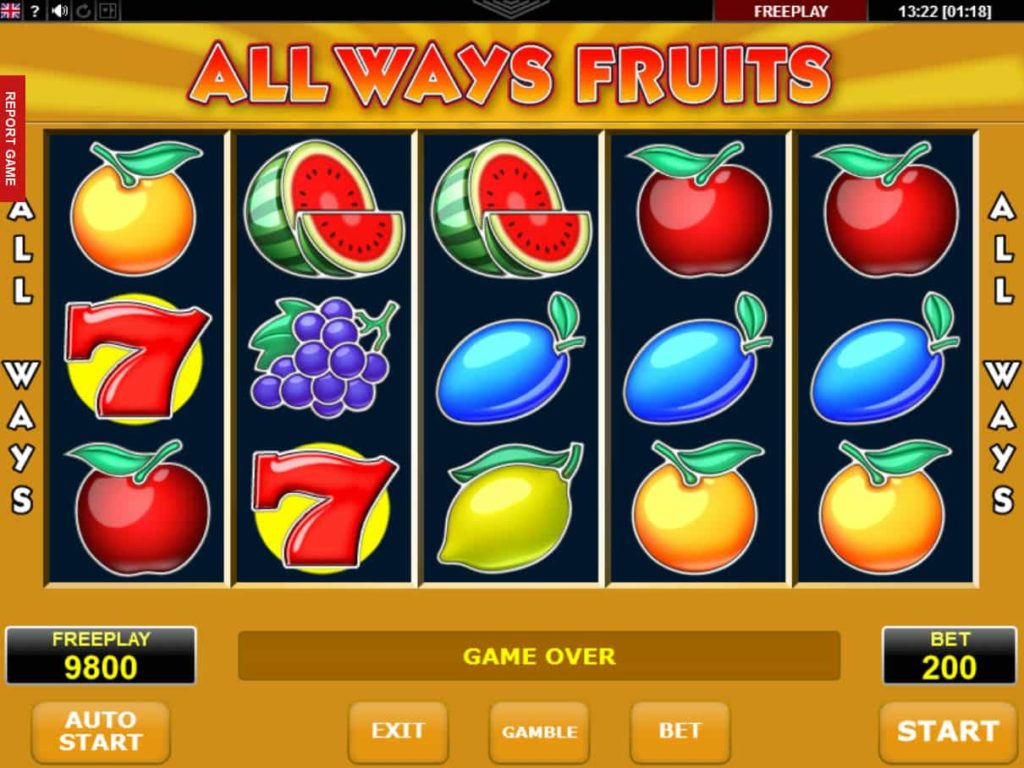 Fruit picker slot machine