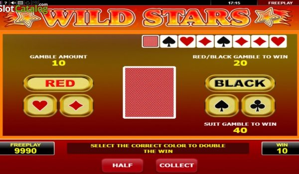 Wild Stars seepstakes games - There are several 'wild' slots from Amatic, and this one singles out the stay symbol for special treatment.